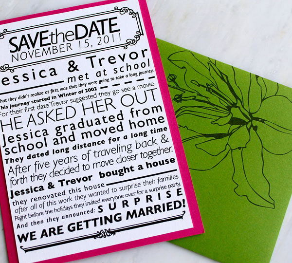 9 mẫu thiệp cưới với thiết kế trẻ trung