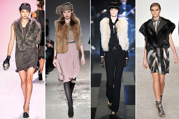 Các nhà thiết kế đưa áo khoác gi-lê lông vào bộ sưu tập của mình với nhiều cách kết hợp độc đáo, tạo phong cách sành điệu.