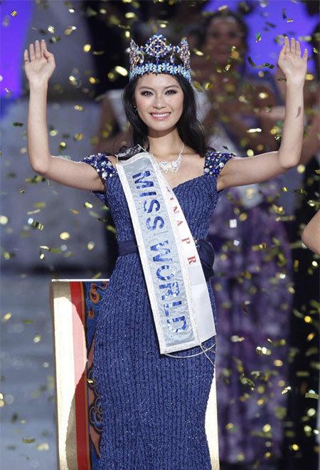 Hoa hậu Trung Quốc tại Miss World - Vu Văn Hà.