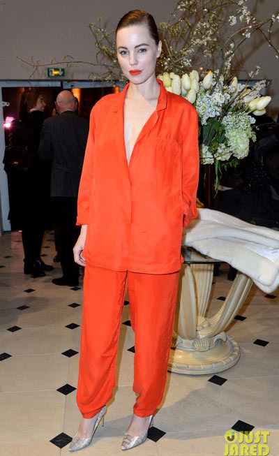 Melissa George at the H&M Fashion Show Fall/Winter 2013 Ready-to-Wear show on Wednesday (February 27) in Paris, France.