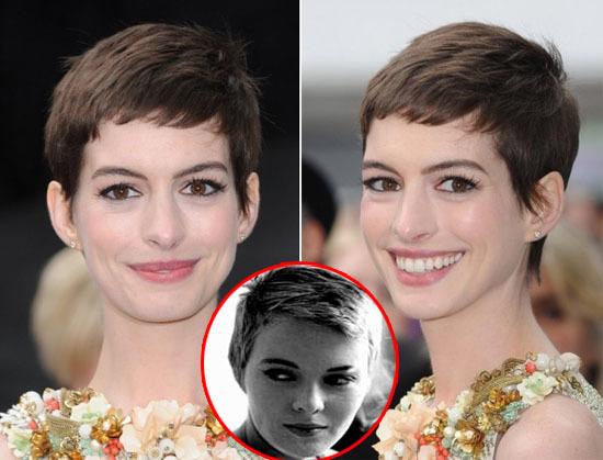 nne Hathaway là một trong những tín đồ trung thành của kiểu tóc này. Nữ diễn viên trẻ trung luôn biến tấu kiểu tóc này khi xuất hiện trước công chúng. Bạn chỉ cần thêm một chút phần mái ngắn cổ điển là có thể tạo cho thêm một phong cách tóc pixie đầy năng động.