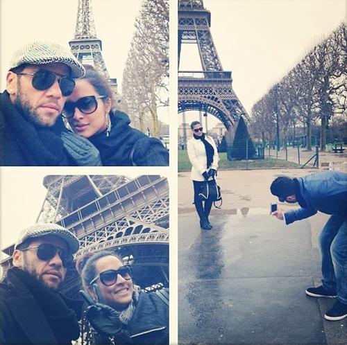 Tuần trước, Dani Alves và người yêu diễn viên vừa có kỳ nghỉ lãng mạn khó quê tại Paris, Pháp.
