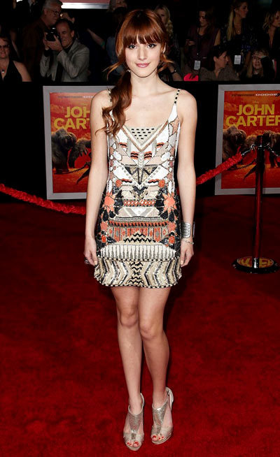 Shake It Up stars Bella Thorne and Zendaya hit the red carpet at the premiere of John Carter held at Regal Cinemas L.A. Live on Wednesday night (February 22) in Los Angeles.