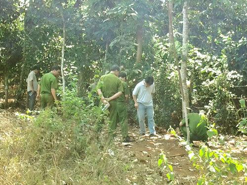 Hiện trường nơi bà Lê Thị Hường tổ chức đốt xác.