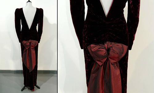 A Catherine Walker evening gown worn by Britain's Princess Diana during a State Visit to Australia in 1985. The gown is expected to sell for between 40,000 - 50,000 GBP (61,000 - 76,000 USD).