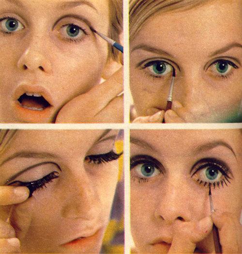 Mái tóc ngắn cá tính cùng cách make-up nhấn chủ yếu vào đôi mắt với hàng mi dưới được vẽ đậm ấn tượng chính là