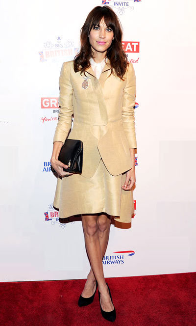 Alexa Chung on the red carpet at the Big British Inviteevent held at 78 Mercer Street on Thursday (March 21) in New York City.