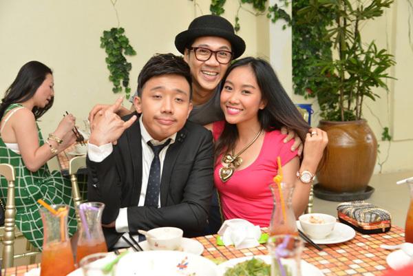 Bộ ba Thành Lộc, Trấn Thành, Đoan Trang nhí nhảnh hội tụ.