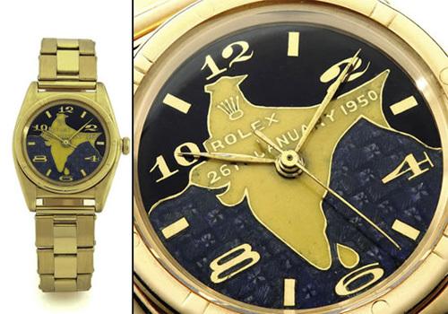 Chiếc đồng hồ Rolex Oyster này là của tổng thống đầu tiên của Ấn Độ, Dr. Rajendra Prasad. Mặt đồng hồ bằng vàng 18 carat có in hình bản đồ Ấn Độ. Chiếc đồng hồ này có giá 440.000 USD.