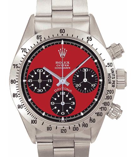 Rolex Daytona 6565 được thiết kế dựa trên màu đỏ của dòng xe hơi Ferrari đắt tiền. Chiếc đồng hồ này từng được nam diễn viên người Mỹ Paul Newman đeo và nó có giá 267.203 USD.