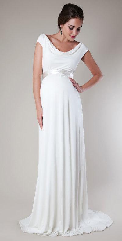 Bí quyết chọn váy cưới đẹp lung linh cho những cô dâu mang bầu 1