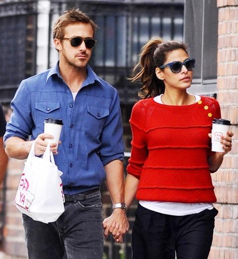 Ryan Gosling và bạn gái Eva Mendes.