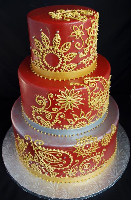 Bánh cưới mang đậm phong cách Á Đông.