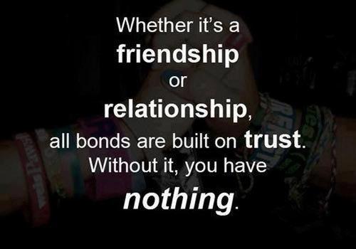 Dù đó là tình bạn hay quan hệ tình cảm