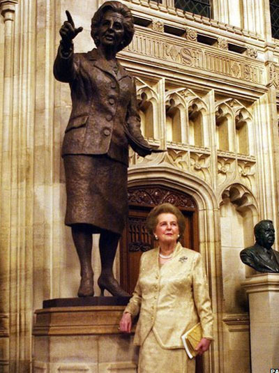 In 2007 Baroness Thatcher became the first living ex-prime minister to be honoured with a statue in the House of Commons.