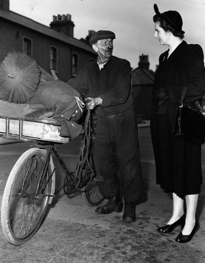 Thatcher is pictured here talking to a chimney sweep in Dartford while campaigning in 1951. She lost on that occasion, but finally entered Parliament in 1959 having won the safe Conservative seat of Finchley.