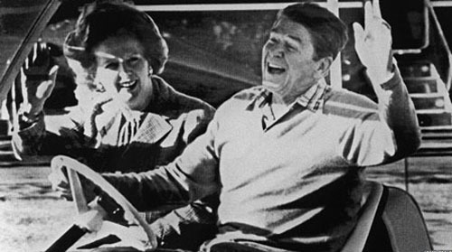 "Mrs Thatcher formed a special relationship with US President Ronald Reagan - her political soulmate. On his death she described Mr Reagan as a great American who ""won the Cold War""."