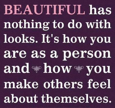 """""""Đẹp"""" không liên quan gì tới vẻ bề ngoài."""