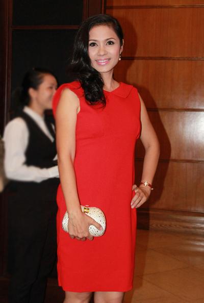 Tối 13/4, diễn viên Việt Trinh là khách mời của sự kiện ra mắt nhãn hàng mỹ phẩm cao cấp của Pháp.