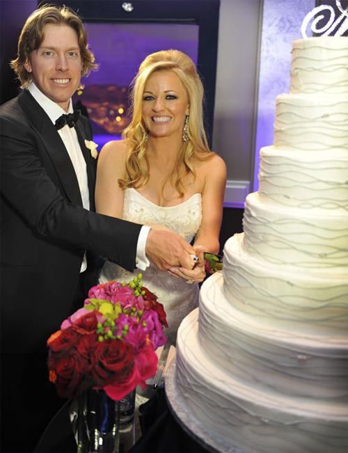 Hunter Mahan và vợ Kandi Harris.