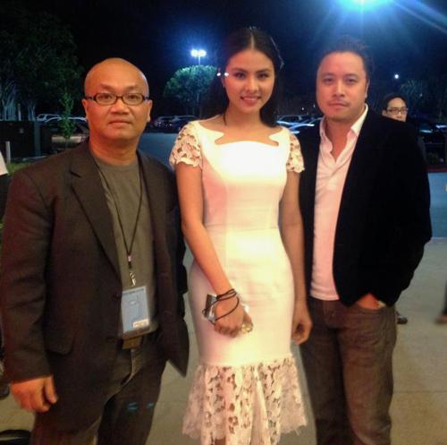 Vân Trang đang có chuyến sang Mỹ cùng đạo diễn Victor Vũ để dự liên hoan phim VIFF (Vietnamese International Film Festival) với tư cách diễn viên chính của hai phim 'Scandal' và 'Thiên mệnh anh hùng'.