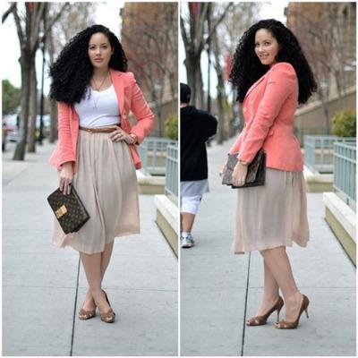 Những chiếc váy hơi xòe dành cho bạn gái có vòng bụng to nhưng vòng ba nhỏ.