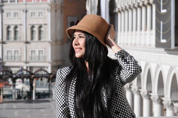 Sau những ngày dự liên hoan phim, Vân Trang tranh thủ đi chơi ở Las Vegas.