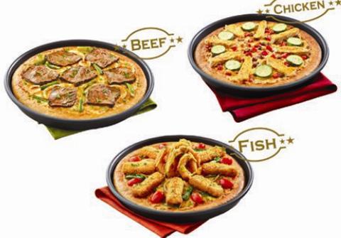 Steak Pizza có mức giá từ 159.000đ  269.000đ từ cỡ vừa đến cỡ lớn.