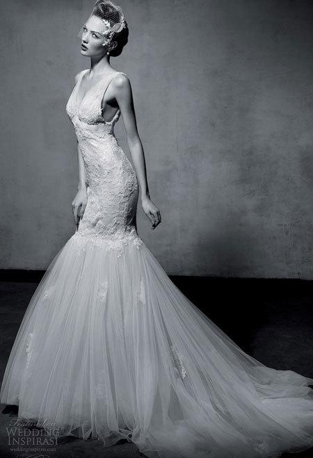 Váy cưới lộng lẫy của Lusan Mandongus