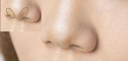 Tạo khối chữ V màu nâu ở đầu mũi, tạo cảm giác mũi nhỏ hơn.