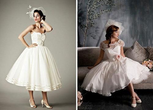 Xu hướng chọn váy cưới dài qua gối