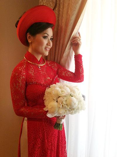 Cô đã tốn rất nhiều công sức và thời gian để chuẩn bị cho ngày lên xe hoa với nam ca sĩ nổi tiếng.