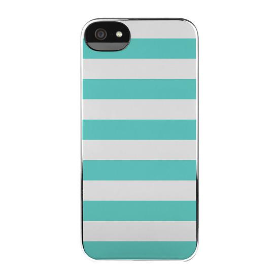Kẻ trắng xanh hài hòa và nhẹ nhàng cho case iPhone 5 (35 USD).
