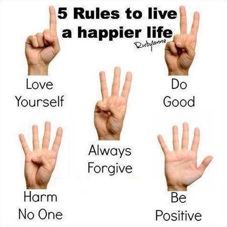 5 quy tắc để cuộc sống vui vẻ hơn: