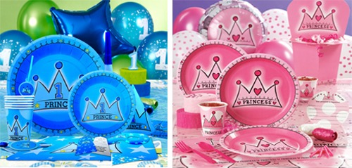 Cha mẹ thường hay chọn bộ sinh nhật Công chúa và Hoàng tử cho các bé 1 tuổi với những hy vọng về một tương lai tốt đẹp