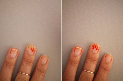 Bước 3: Lần lượt làm giông bước 2 ở những giọt tiếp theo.
