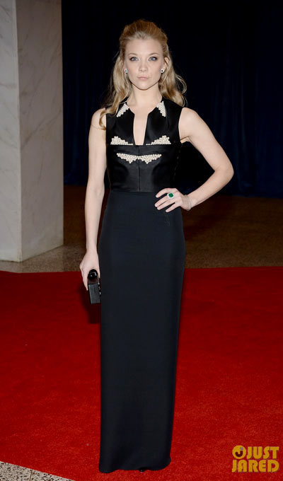Natalie Dormer Game of Thrones actress hits the red carpet at the 2013 White House Correspondents Association Dinner held at the Washington Hilton on Saturday (April 27) in Washington, D.C. wearing a Marios Schwab dress.
