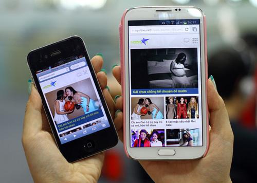 Tùy kích thước màn hình, trang Ngôi Sao phiên bản mobile sẽ tự động trải giao diện hiển thị phù hợp với các kích cỡ khác nhau.
