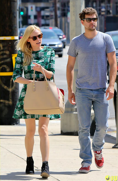 Diane Kruger goes shopping for dresses with her longtime love Joshua Jackson on Wednesday afternoon (May 1) in Hollywood.