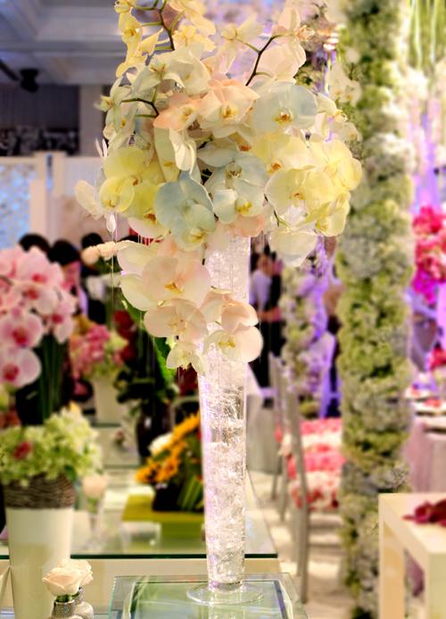 Hoa lan, hoa hồng là hai loại hoa được sử dụng nhiều trong đám cưới.