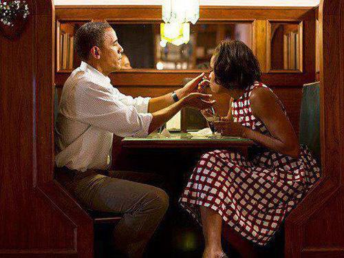 Tổng thống Obama và vợ Michelle.