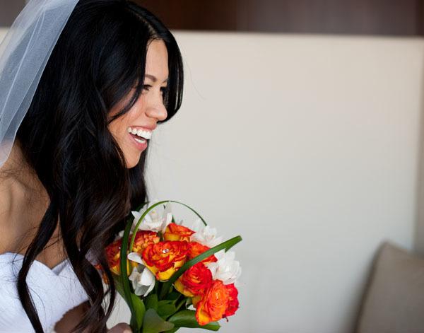 Tiệc cưới màu cam ngập tràn sức sống