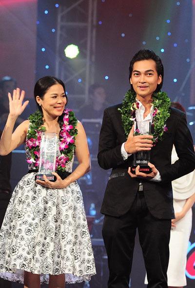 Cặp của Mỹ Lệ - Khương Ngọc chỉ giành giải ba chung cuộc của 'Cặp đôi hoàn hảo' 2013. Ảnh: Lý Võ Phú Hưng