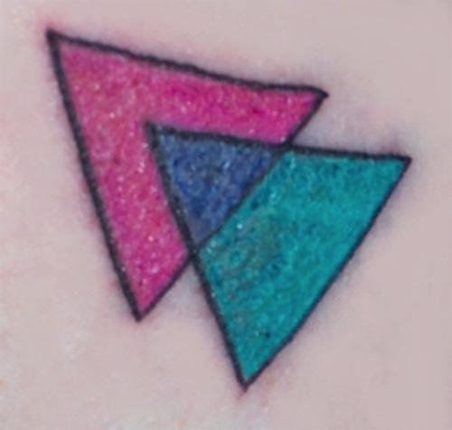 Hình xăm tam giác lưỡng tính.