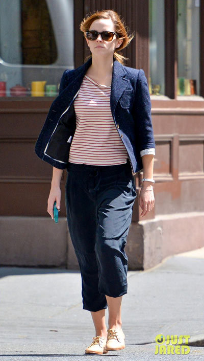 Emma Watson heads out and about to get in a day of shopping on Tuesday (May 7) in New York City.