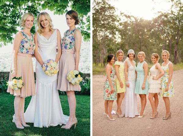 Phù dâu mùa hè rực rỡ với váy hoa