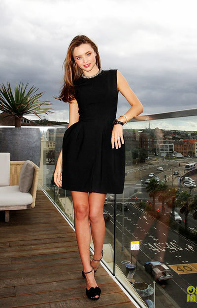 Miranda Kerr dons a little black dress while being named the Clear Scalp and Hair Beauty Therapy Ambassador at The Pacific at Bondi Beach on Wednesday (February 13) in Sydney, Australia.