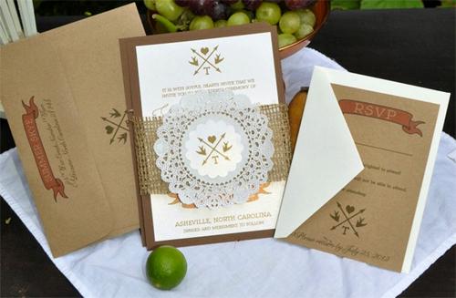 Phụ kiện giấy xinh xắn cho đám cưới