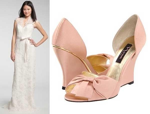 Chọn giày cô dâu theo váy cưới