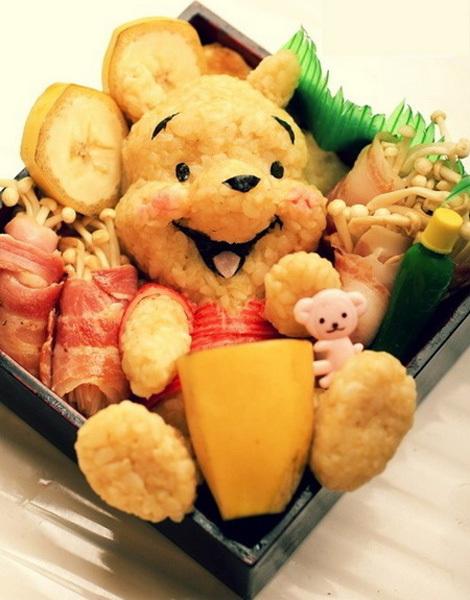 Gấu Pooh đáng yêu từ những nắm cơm.